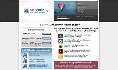 SEOmoz new landing page - small